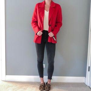 Red Badgley Mischka coat